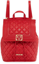 Love Moschino Napa Quilted Faux Backpack, Red