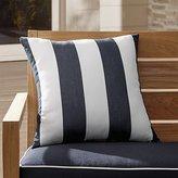 """Crate & Barrel Sunbrella ® Cabana Striped 20"""" Sq. Outdoor Pillow"""