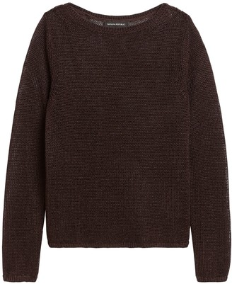 Banana Republic Petite Linen-Blend Boat-Neck Sweater