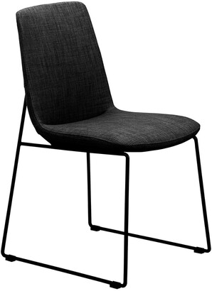 Moe's Home Collection Set Of 2 Ruth Dining Chair Black