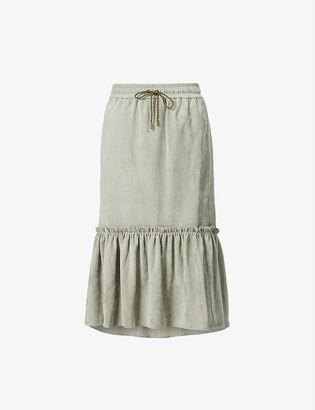 Me And Em Ultimate Drape stretch-woven midi skirt
