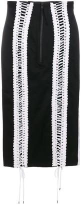 Kokon To Zai Lace-Up Skirt