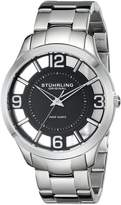 Stuhrling Original Men's 754.02 Classic Winchester Court Swiss Quartz Dial Stainless Steel Bracelet Watch