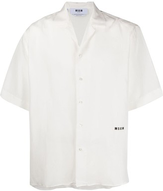 MSGM Short-Sleeved Buttoned Shirt