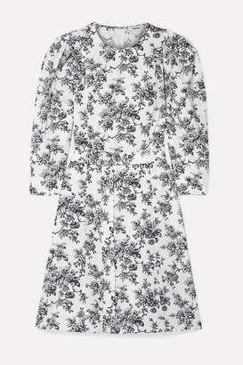 Jason Wu Belted Floral-print Cotton-poplin Dress - White