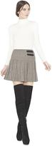 Alice + Olivia Emilie Box Pleat Mini Skirt