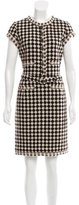 Oscar de la Renta Alpaca & Wool-Blend Belted Dress