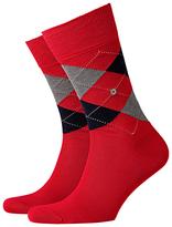 Burlington Manchester Short Socks, One Size, Red