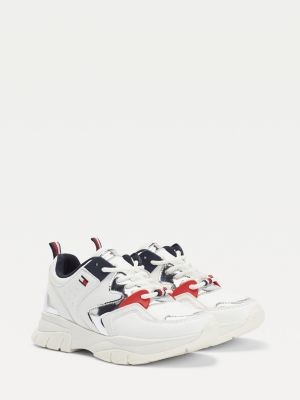 Tommy Hilfiger Metallic Detail Lace-Up Trainers