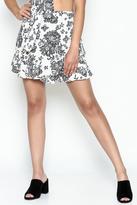 Solemio Print Flare Skirt