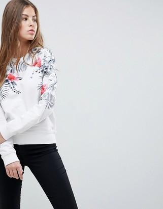 Replay Floral Print Crew Neck Sweatshirt