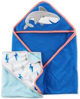 Carter's 2-Pk. Hooded Shark Towels Set, Baby Boys (0-24 months)