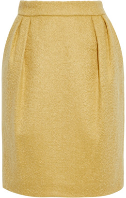 Max Mara Turchia Pleated Mohair-blend Mini Skirt