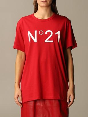 N°21 N deg; 21 Short-sleeved T-shirt With Big Logo
