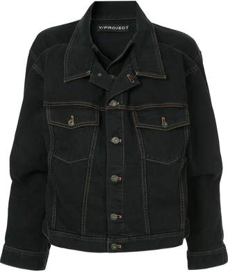 Y/Project double-collar denim jacket