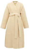 The Row Tanilo Merinillo-shearling Wrap Coat - Womens - Cream