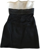 Monique Lhuillier Black Silk Dress for Women