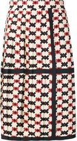 Marc Jacobs pixel check pleated skirt - women - Silk - 2