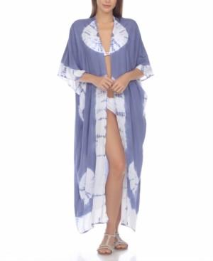Raviya Tie-Dye Kimono Maxi Cover-Up Women's Swimsuit