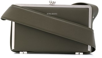 Nina Ricci Snap-Closure Leather Shoulder Bag