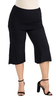 24/7 Comfort Foldover Waist Cropped Pants