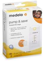 Medela Pump & SaveTM 20-Count Breastmilk Bags with Easy-Connect Adapter