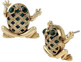 Betsey Johnson Calypso Betsey Frog Stud Earrings