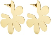 Simone Rocha Flower small gold-plated earrings