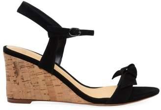 Alexandre Birman Noelle Suede Cork Wedge Sandals