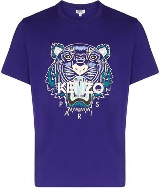 Kenzo Tiger logo print T-shirt