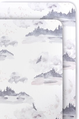 Oilo Misty Mountain 2-Pack Jersey Fitted Crib Sheets