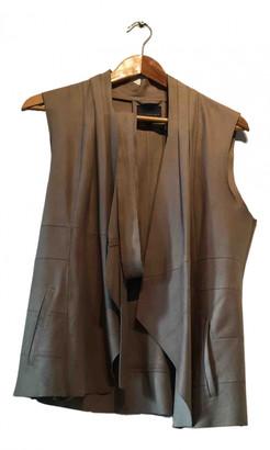 Hotel Particulier Beige Leather Jackets