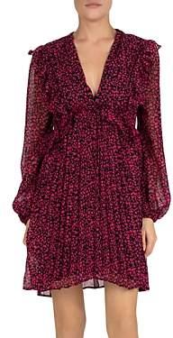 The Kooples Camelia Rose Printed Ruffled Mini Dress