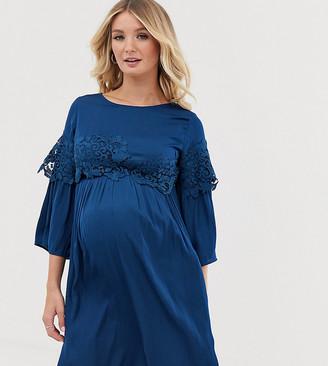 Mama Licious Mamalicious maternity lace detail mini dress