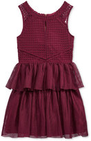 Nanette Lepore Embroidered Mesh Party Dress, Big Girls (7-16)