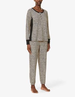 DKNY Animal-print pyjama set