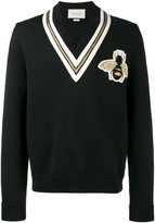 Gucci Bee motif cricket jumper - men - Wool - S