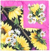 Dolce & Gabbana plant print scarf - women - Silk - One Size