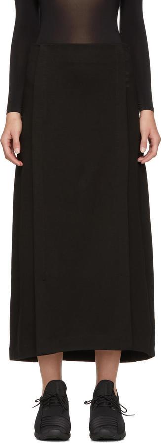 Y-3 Black Long Skirt