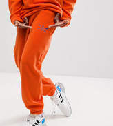 Reclaimed Vintage Inspired Pants In Orange Fleece