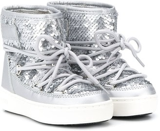 MOON BOOT KIDS Sequin-Embellished Snow Boots