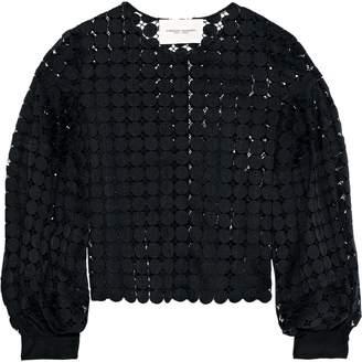 Carolina Herrera Cotton Guipure Lace Jacket