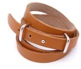 Hermes Silvertone Wrap Leather Bracelet