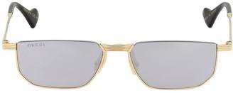 Gucci Mirrored Metal Sunglasses