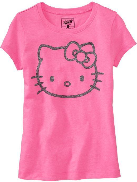 Hello Kitty Girls Glitter Tees
