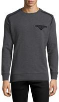 Diesel Black Gold Solid Cotton Crewneck Sweatshirt