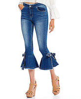 Gianni Bini Delia Frayed Crop Denim