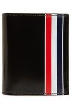 Thom Browne Thom Brown X2 Stripe Card Holder - Black