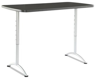 Height Adjustable Standing Desk Symple Stuff Finish: Graphite / Silver