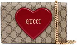 Gucci Valentine's day chain card case wallet